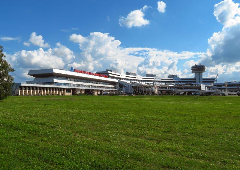 Minsk - National Airport. Minsk, Belarus - July 14, 2018: Minsk National Airport former name Minsk-2 is the main international airport in Belarus royalty free stock photo