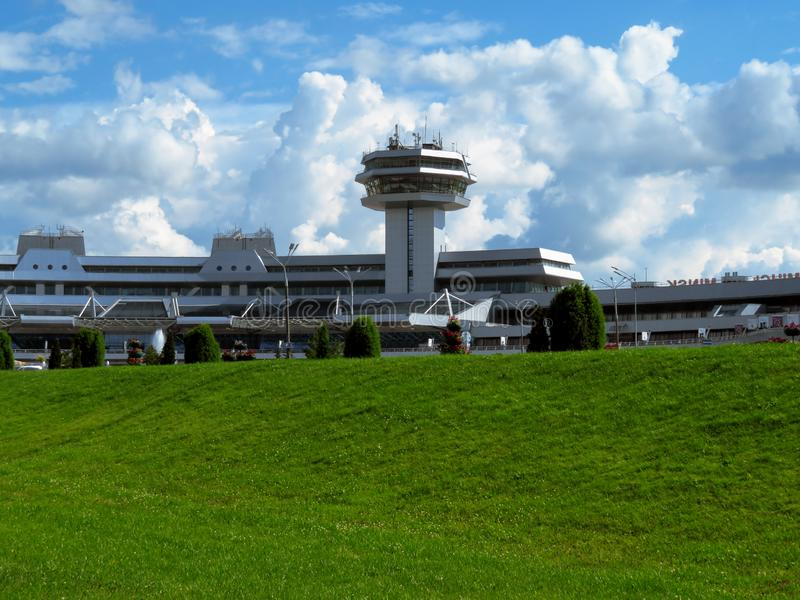Minsk - National Airport. Minsk, Belarus - July 14, 2018: Minsk National Airport former name Minsk-2 is the main international airport in Belarus royalty free stock images