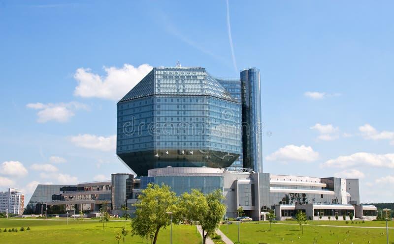 Minsk. Nationale bibliotheek stock fotografie