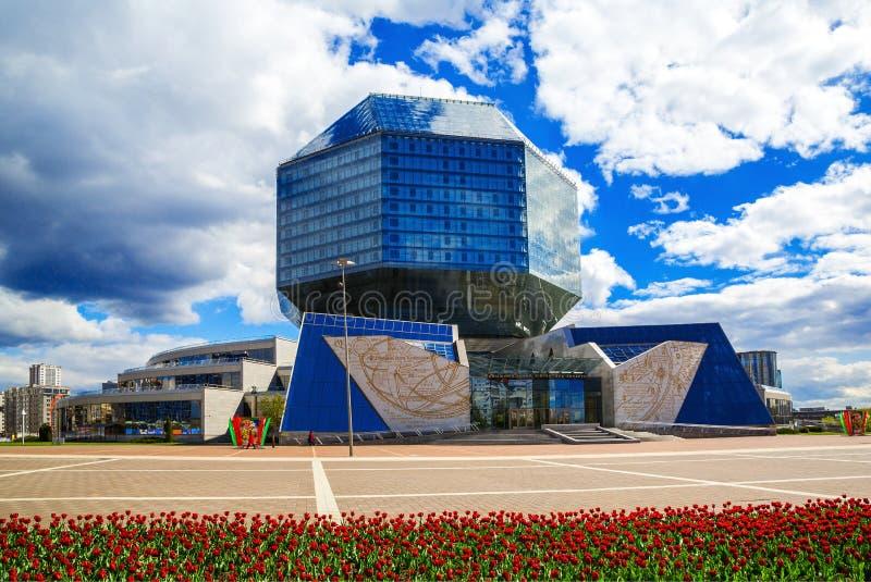Minsk, Nationale Bibliotheek royalty-vrije stock fotografie