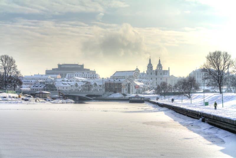 minsk Svislach-Fluss lizenzfreies stockbild