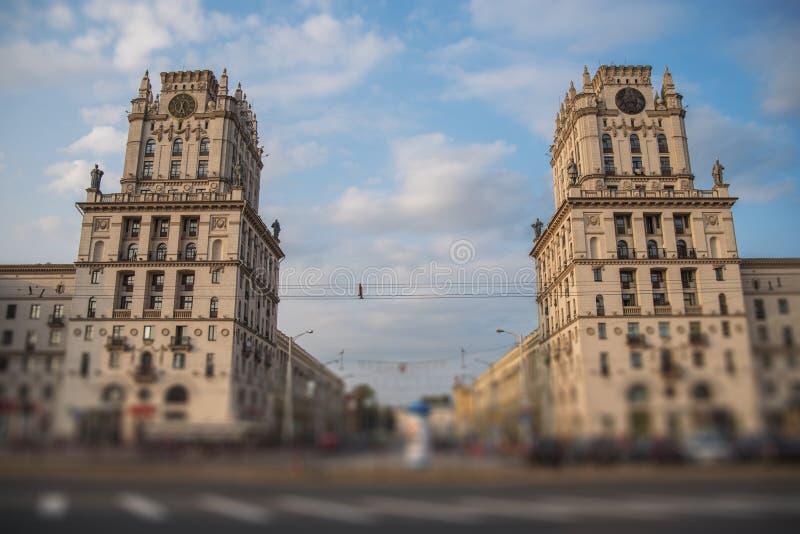 Minsk-Tor zur Stadt lizenzfreie stockfotos