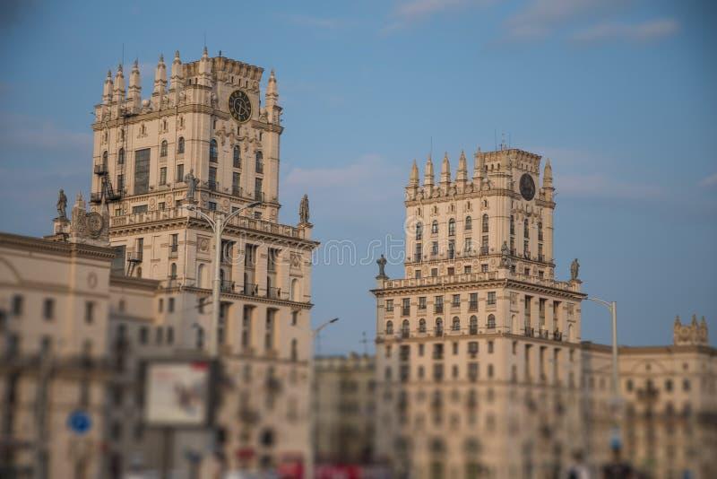 Minsk-Tor zur Stadt stockbilder