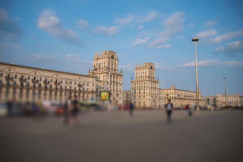 Minsk-Tor zur Stadt stockfotos