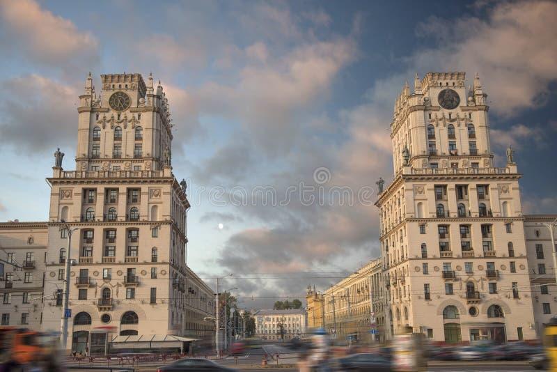 Minsk-Tor zur Stadt lizenzfreies stockfoto