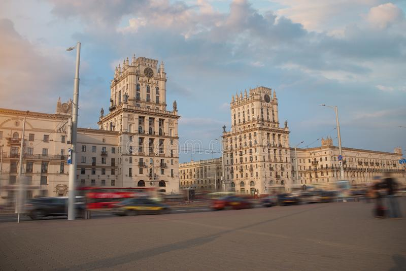 Minsk-Tor zur Stadt lizenzfreie stockbilder