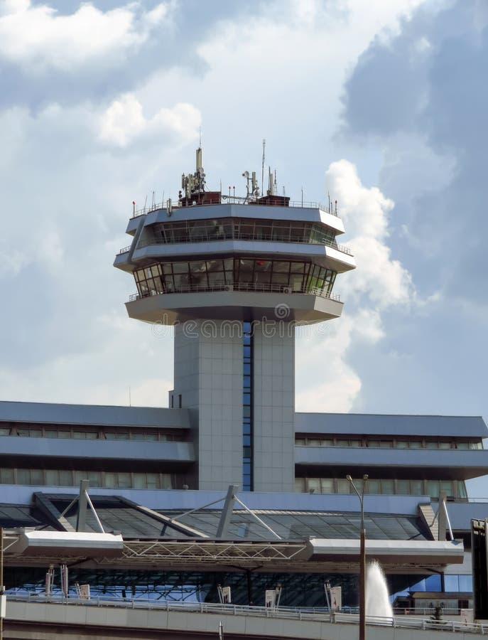 Minsk - Tower of National Airport. Minsk, Belarus - July 14, 2018: Minsk National Airport former name Minsk-2 is the main international airport in Belarus stock photos