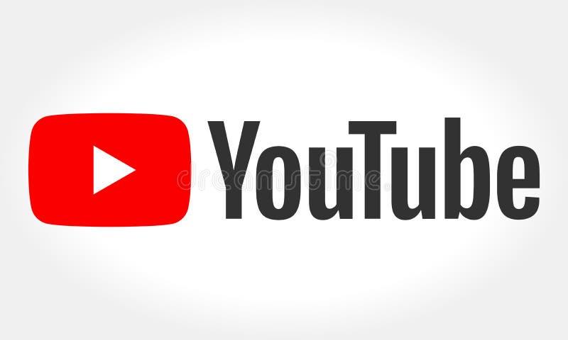 MINSK VITRYSSLAND MAY 10, 2018: YouTube logotyp som skrivs ut på papper YouTube är endela website Servicen skapades av th royaltyfri illustrationer