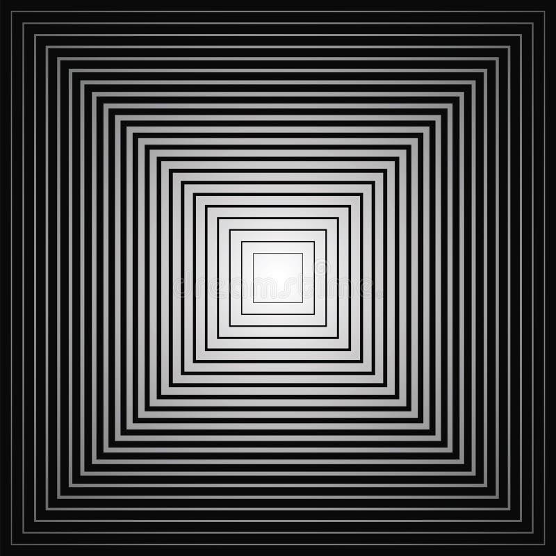 Minska fyrkanter vektor illustrationer