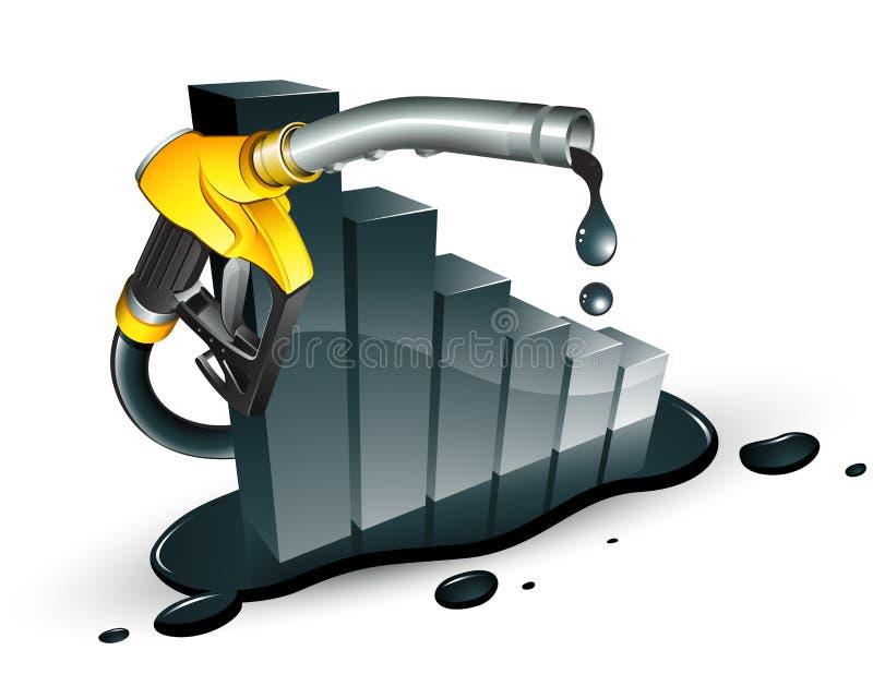 minska petrol royaltyfri illustrationer