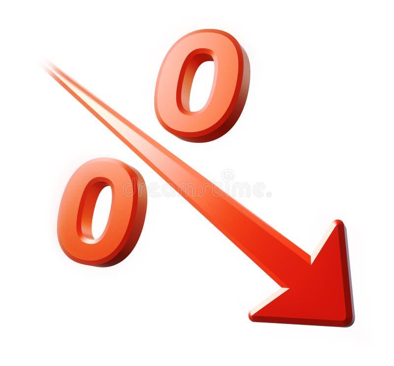 minska procentrapid stock illustrationer