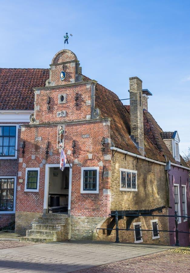 Minst hus av den historiska staden Franeker royaltyfria bilder