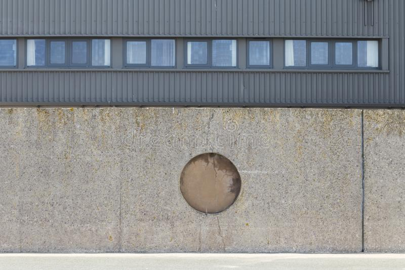 Minsta abstrakt kust- arkitekturbakgrund royaltyfri bild