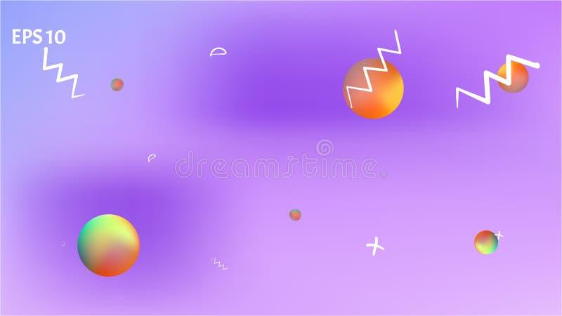 Minsta abstrakt ljus för utrymmebakgrundsbild stock illustrationer