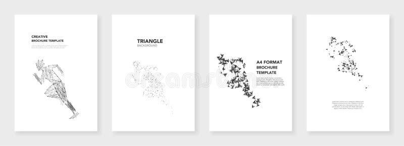 Minsta broschyrmallar stock illustrationer