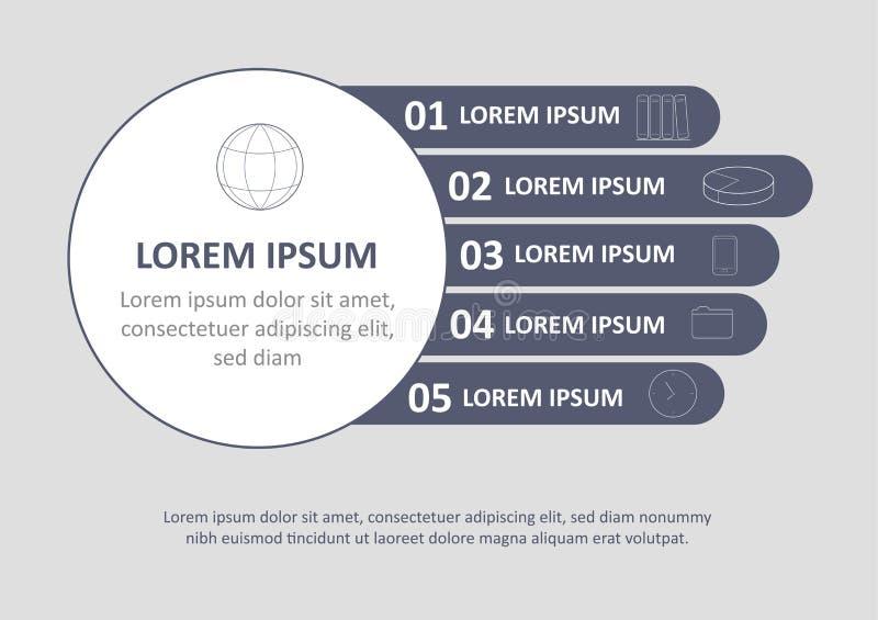 Minsta infographic broschyrmall Sidor med diagram-, graf- och diagrambeståndsdelar Visualizationbegrepp för statistiska data stock illustrationer