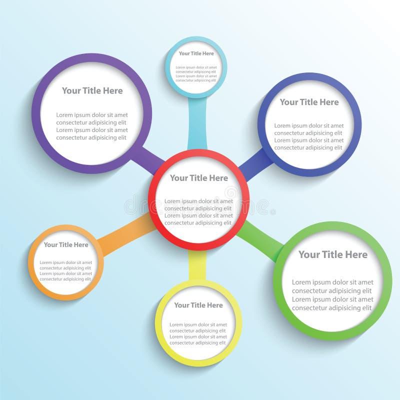 Minsta infographic mallbakgrund vektor illustrationer