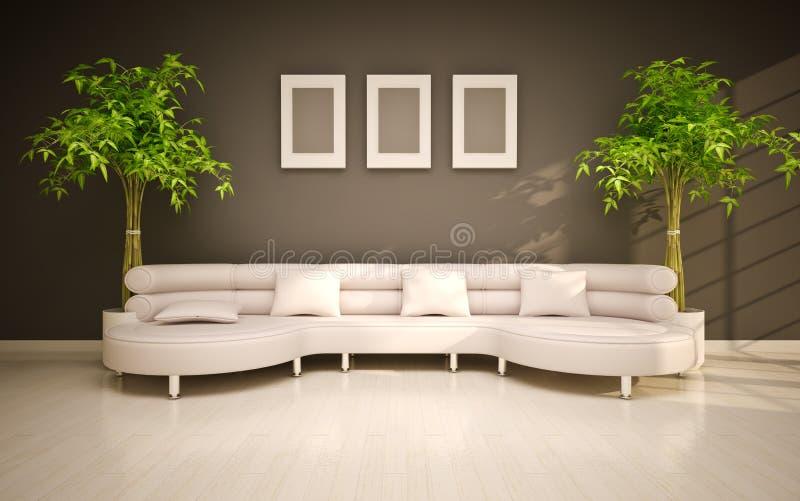 minsta modern interior royaltyfri illustrationer