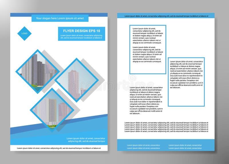 Minsta reklamblad anmäler mallen för portföljen för orienteringen för affischen för affärstidskriften Vektor för broschyrdesignma stock illustrationer