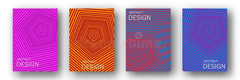 Minsta samling för årsrapportdesignvektor royaltyfri illustrationer
