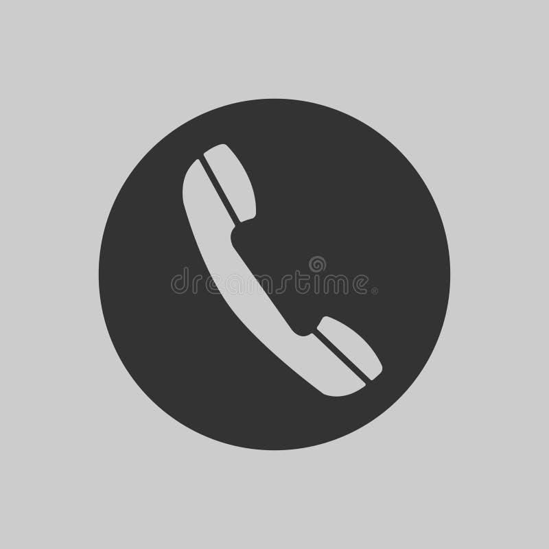Minsta telefonsymbol för rengöringsduk och mobil Plan design för telefonsymbol Telefontelefonlur som en kommunikation, moderna te stock illustrationer