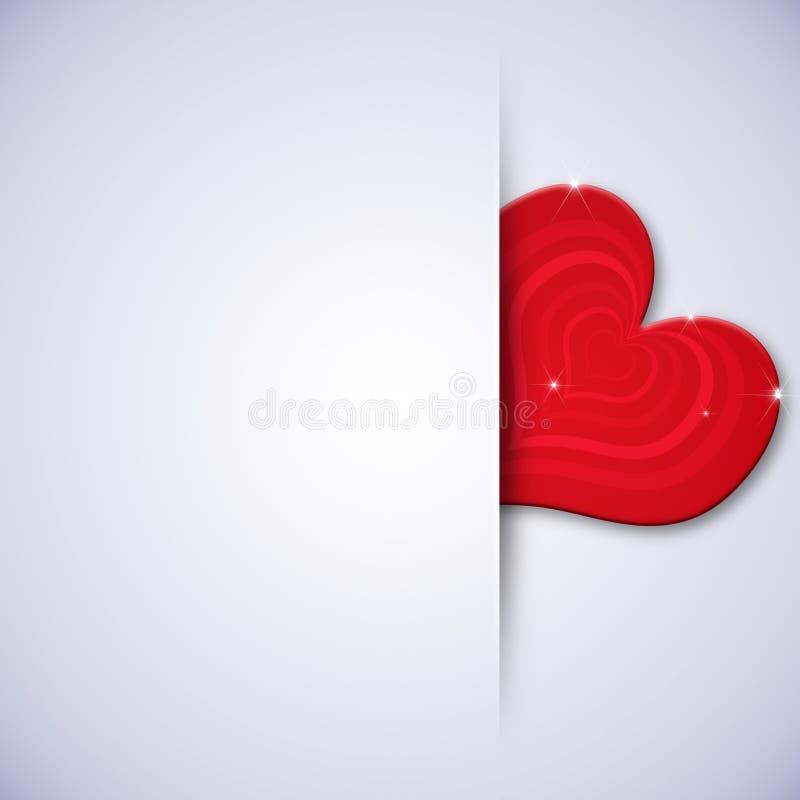 Minsta Valentine Gift Card stock illustrationer