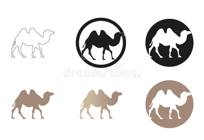 Minsta vektorillustration för kamel stock illustrationer