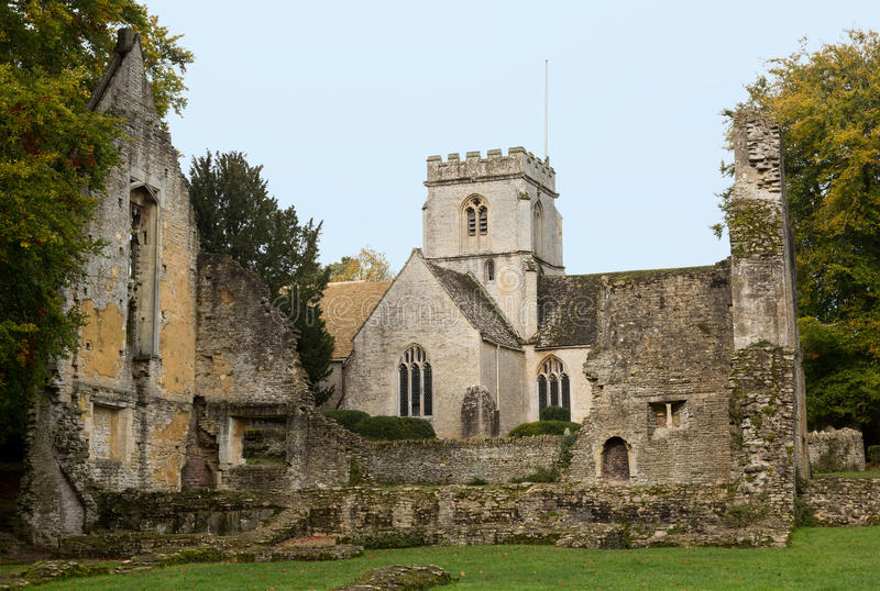 Minster Lovell dans le district de Cotswold de l'Angleterre photos stock
