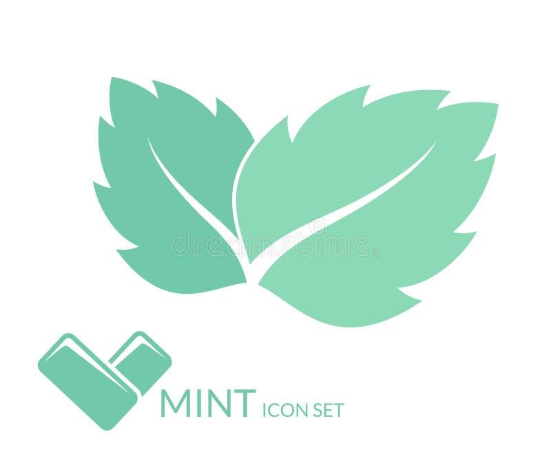 Mint. Chewing gum. Vector illustration EPS stock illustration