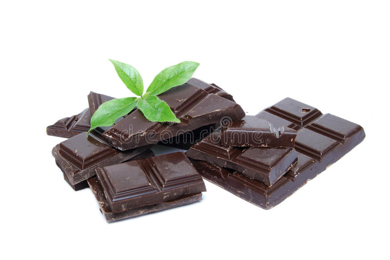 Mint and chocolate royalty free stock photo