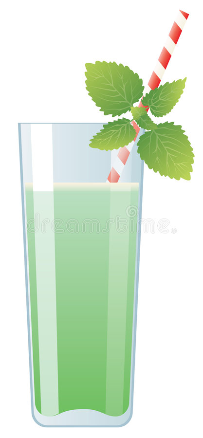 Download Mint Cream Cocktail In Glass Stock Vector - Illustration: 6358704