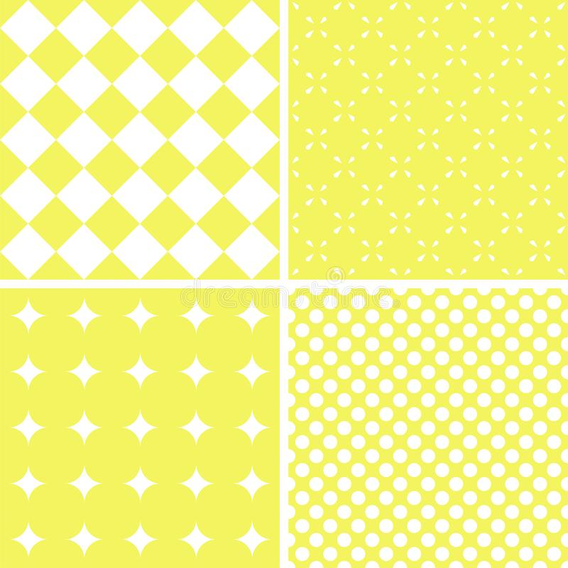 Mint different vector seamless patterns royalty free stock image