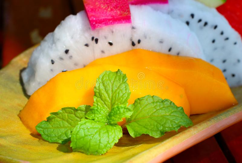 Mint with fresh fruit royalty free stock images