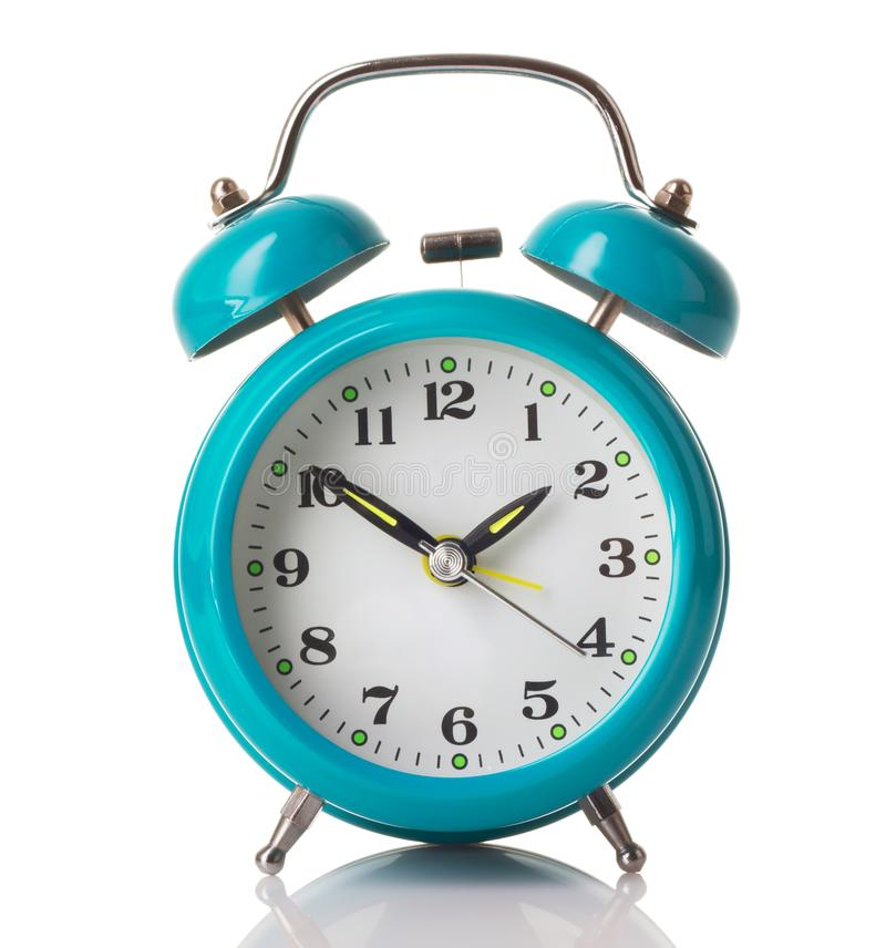 Mint green alarm clock royalty free stock photos