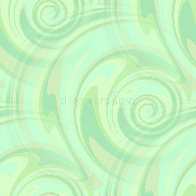 Mint green swirls pattern - seamless. Watercolor mint green swirls seamless vector illustration