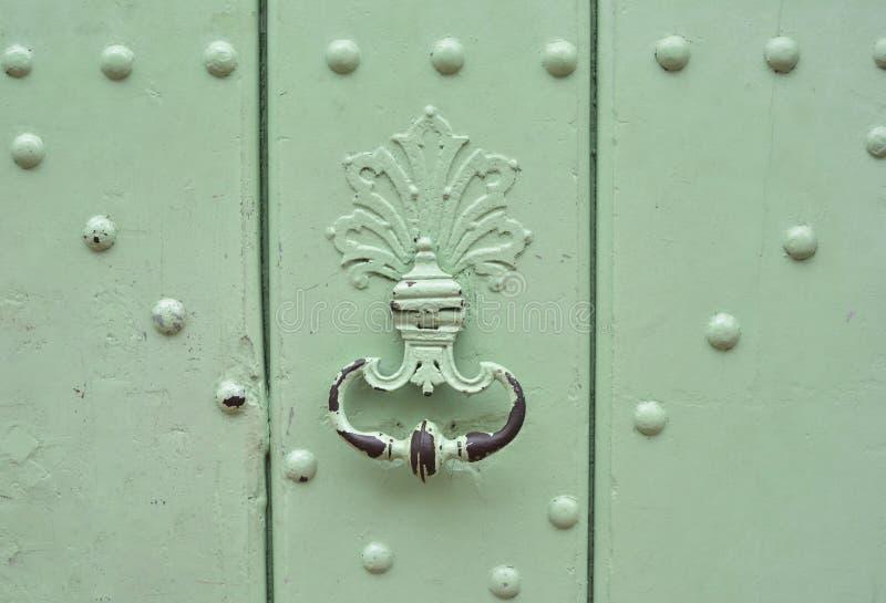 Mint handle door rusty iron ring stock photos