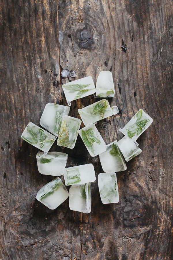 Mint ice cube royalty free stock photography