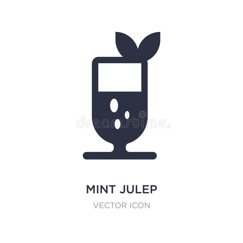 Mint julep icon on white background. Simple element illustration from Drinks concept. Mint julep sign icon symbol design royalty free illustration