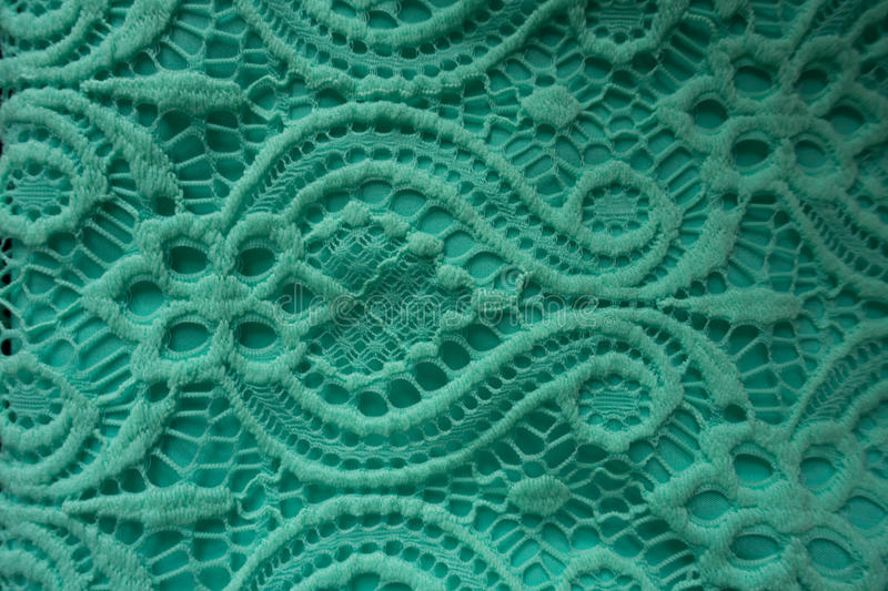 Mint lace fabric royalty free stock photography