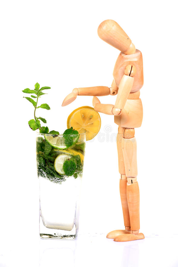 Download Mint and lemon soda drink stock photo. Image of cube - 20594582