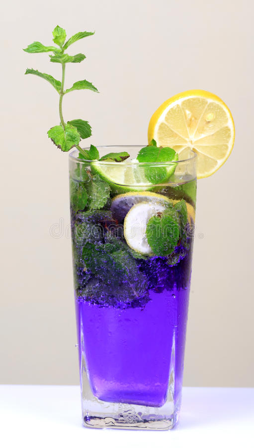 Mint And Lemon Soda Drink Royalty Free Stock Photography