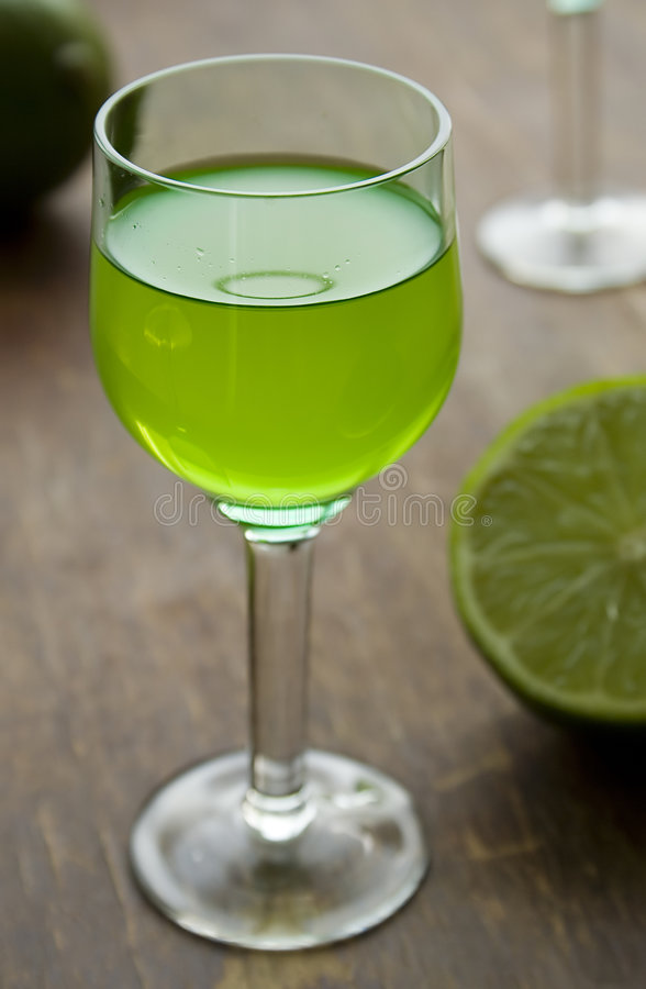 Mint liquor IV stock images