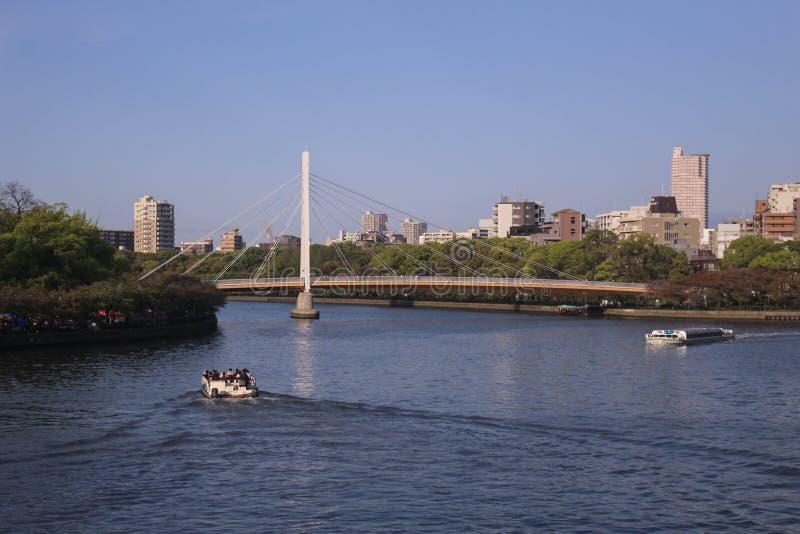 The Mint And Osaka Business Park. Osaka, Japan royalty free stock photos