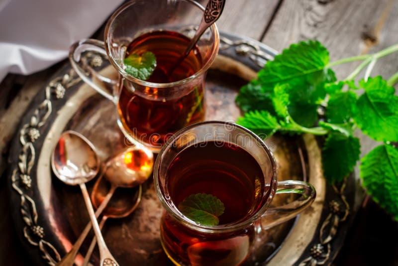 mint tea royaltyfria bilder