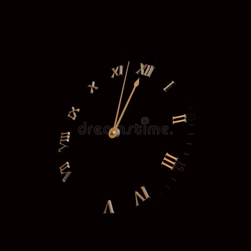 minuit d'or photographie stock libre de droits