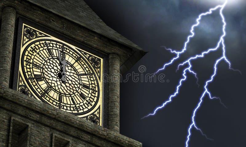 Minuit saisissant image libre de droits
