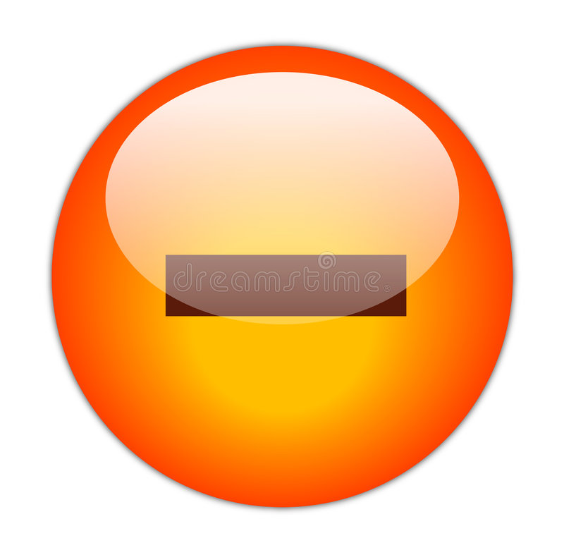 Download Minus Button stock illustration. Image of gloss, smaller - 4181992