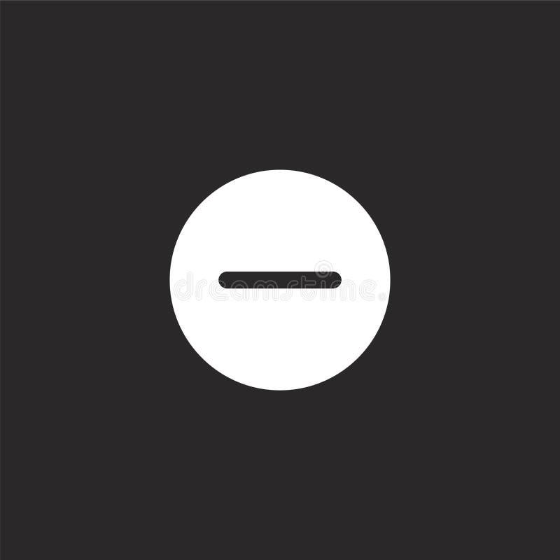 minus ikona Wypełniający minus ikona dla strony internetowej wiszącej ozdoby i projekta, app rozwój minus ikona od wypełniającej  royalty ilustracja