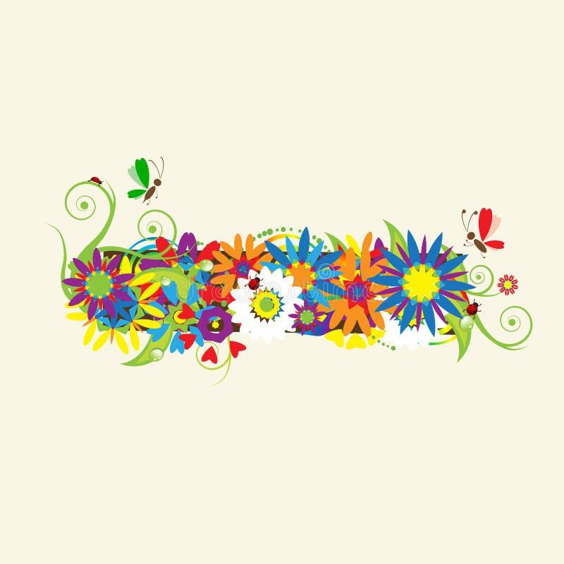 Download Minus sign. Floral design. stock vector. Image of letter - 10967840