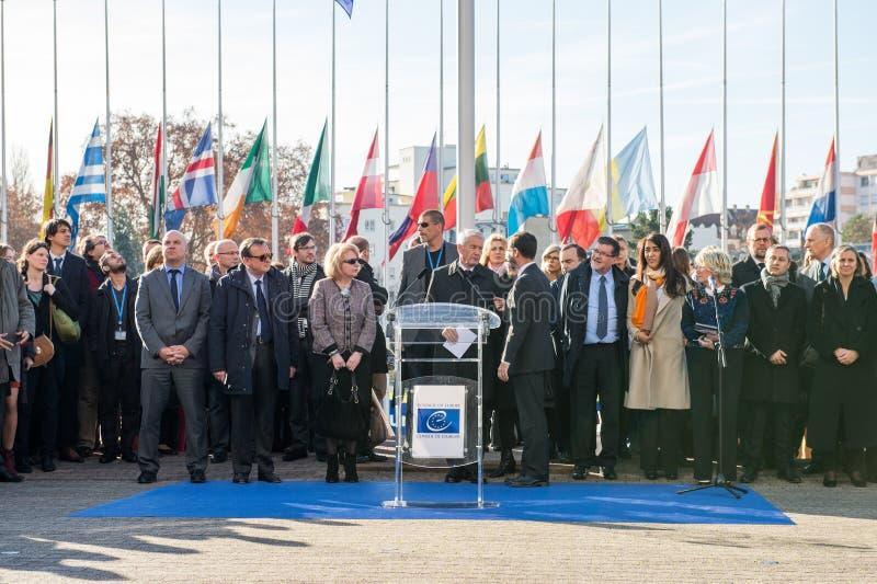 Minuta cisza w uznaniu ofiary Paryż, rada zdjęcie royalty free